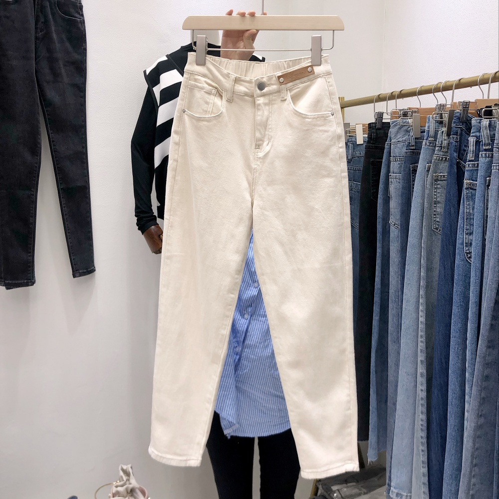 Korean style high waist Western style long pants for women