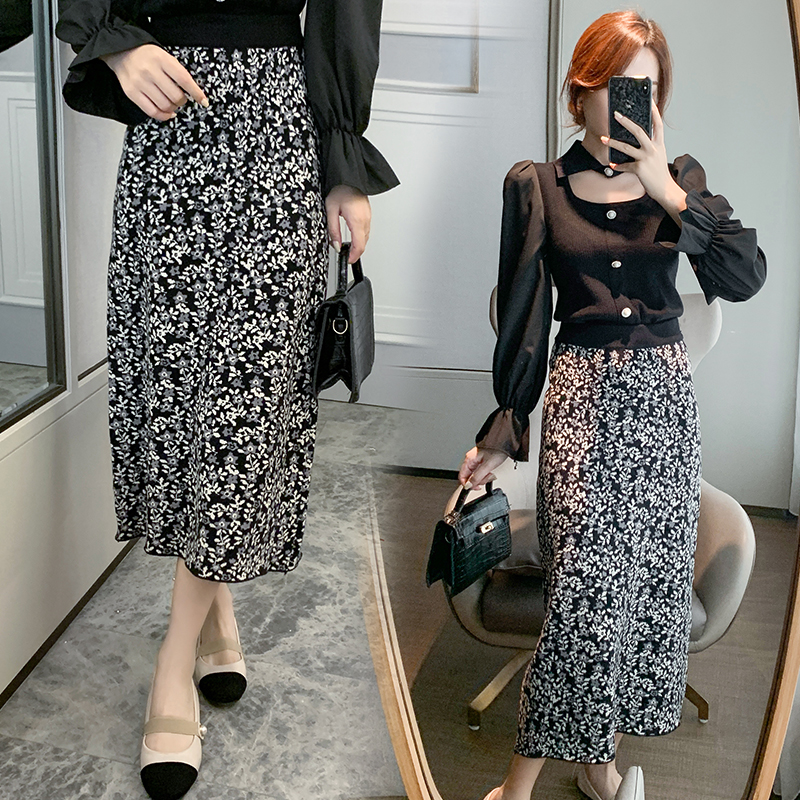 Autumn and winter bottoming retro all-match skirt