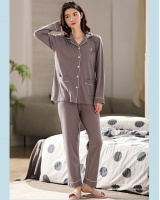 Autumn and winter natural pajamas student cardigan a set