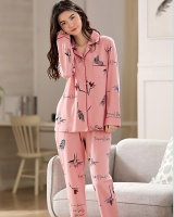 Fashion cardigan lovely pajamas a set for women