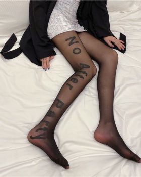 Thin printing stockings bottoming socks jumpsuit for women