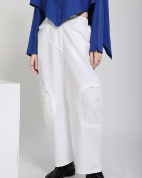Casual Japanese style nine pants autumn slim wide leg pants