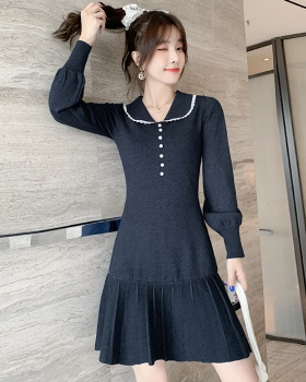 Bottoming sweet autumn knitted France style temperament dress