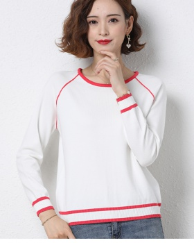 Korean style long sleeve tops pullover bottoming shirt