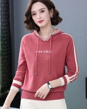 Middle-aged bottoming hoodie fashion sweater for women