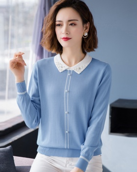 Beading sweater bottoming shirt for women