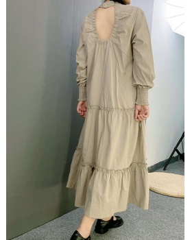 Japanese style fashion cotton linen loose dress