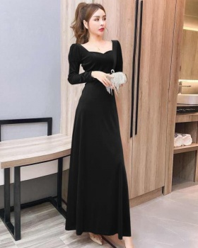 Slim ladies long dress autumn and winter dress
