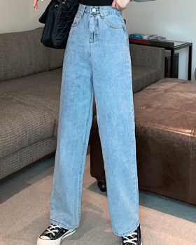 Retro loose Korean style long pants autumn straight jeans