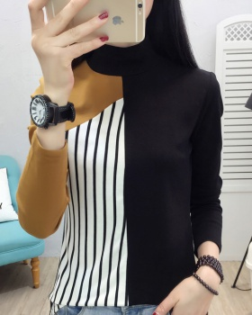 High collar thermal tops Korean style bottoming shirt for women