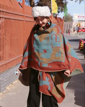 National style art shawl autumn and winter thermal scarves