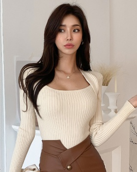 Autumn and winter bottoming tops long sleeve sweater