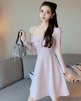 Strapless autumn dress liangsi slim formal dress