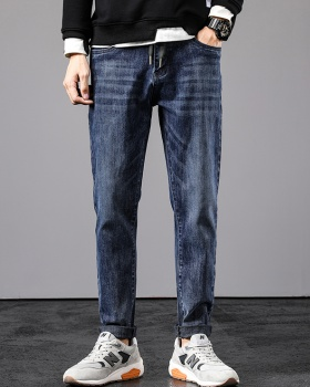 Elasticity long pants Korean style jeans for men