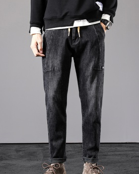 Casual loose long pants all-match harem work clothing for men