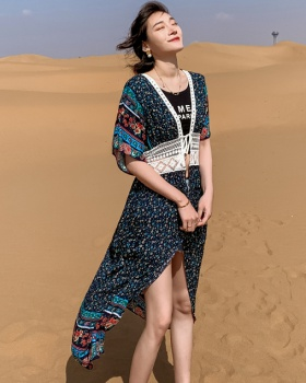 Vacation chiffon cardigan slim temperament dress