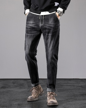 Korean style slim all-match long pants fashion youth jeans