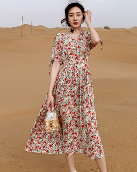Slim beach dress temperament long dress for women