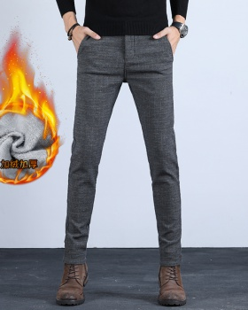 Fashion straight winter plus velvet casual pants for men