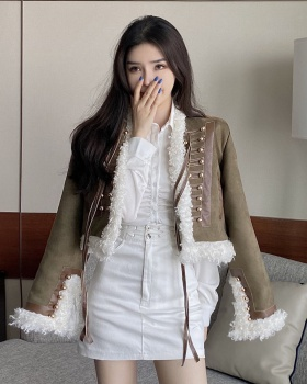 Autumn and winter tops cotton coat for women