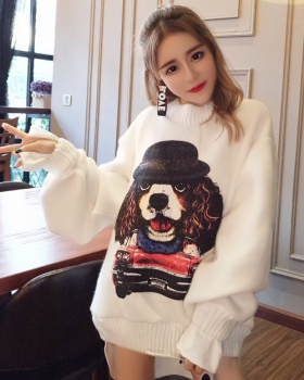 Loose fashion printing splice Korean style hoodie 2pcs set