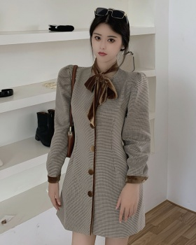 Splice retro business suit autumn and winter watkins dress