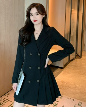 Temperament business suit long sleeve dress for women