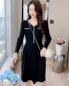 Temperament long dress exceed knee dress for women