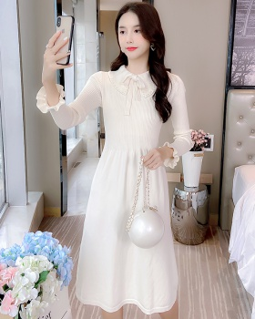 Sweet dress doll collar long dress for women
