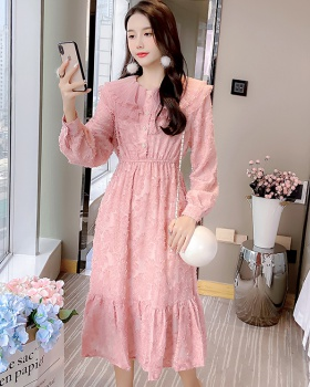 Doll collar dress autumn long dress for women
