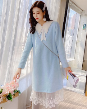 Winter college style dress slim long dress for women