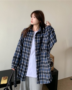 Long sleeve coat all-match tops for women