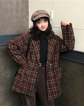 Plaid autumn and winter coat Casual business suit