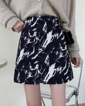 Tie dye slim skirt high waist short skirt for women