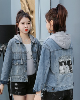 Japanese style tops long sleeve denim jacket