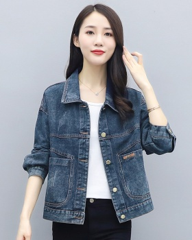 Portrait Casual Korean style coat embroidery loose denim tops