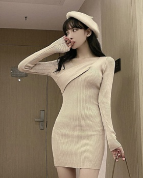 Package hip autumn and winter tight inside the ride dress for women