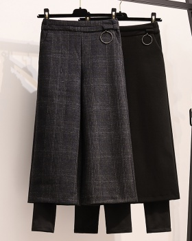 Bottoming plus velvet thick winter Pseudo-two pants