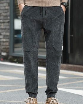 Pure casual pants Korean style pants for men