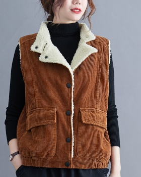 Autumn and winter vest large yard waistcoat for women