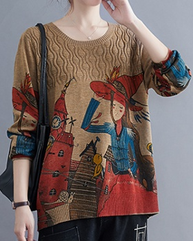 Autumn fashion all-match fat pullover art tops