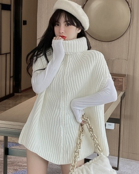 Loose winter shawl thick bat sleeve sweater for women