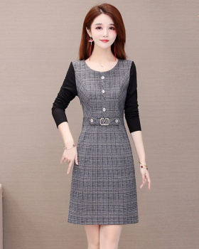 Bottoming long sleeve large yard slim thick dress