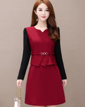 Autumn and winter thick long dress for women