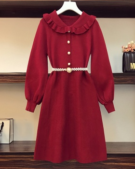 Slim autumn and winter sweater Cover belly dress