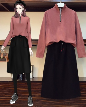 Bottoming skirt autumn and winter tops 2pcs set