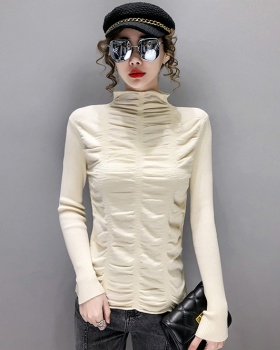 Western style half high collar autumn and winter sweater