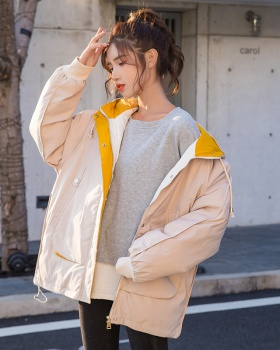 Loose cotton coat Korean style work clothing for women