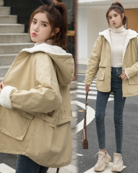 Student college style coat thick cotton coat for women