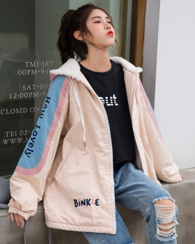 Student winter loose thick Korean style cotton coat for women